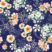 Pretty Ditsy flower print  - seamless background