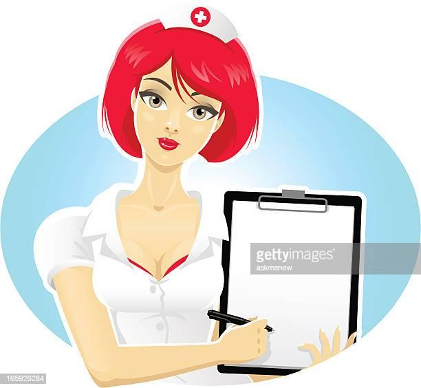 ilustraciones, imágenes clip art, dibujos animados e iconos de stock de pretty doctor - enfermera