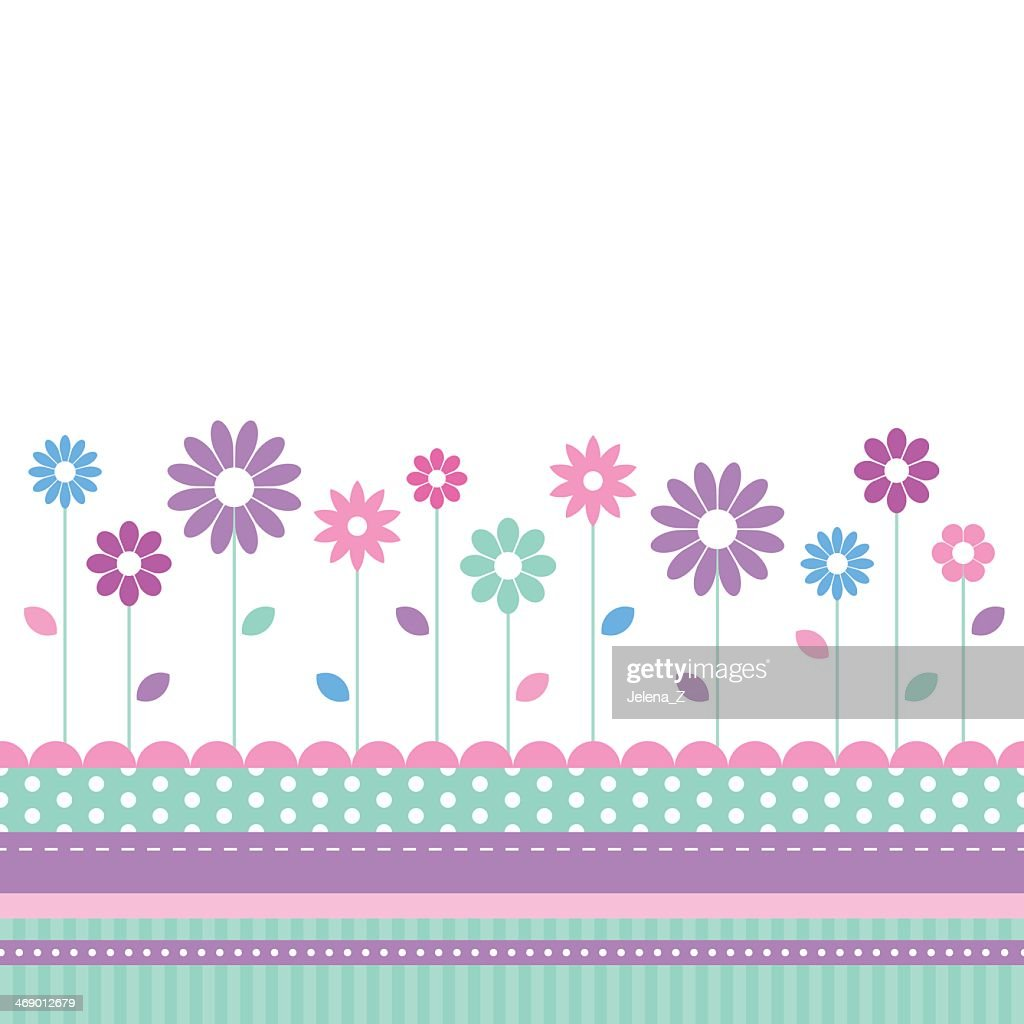 Pretty floral meadow greeting card