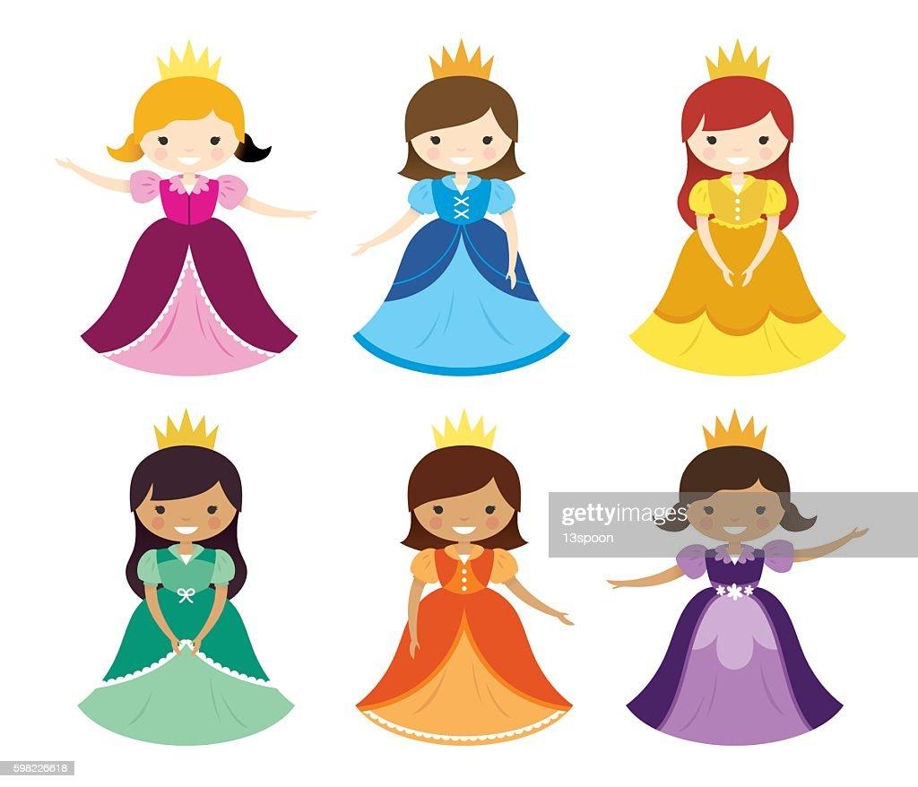 Pretty Pretty Princesses : stock illustration