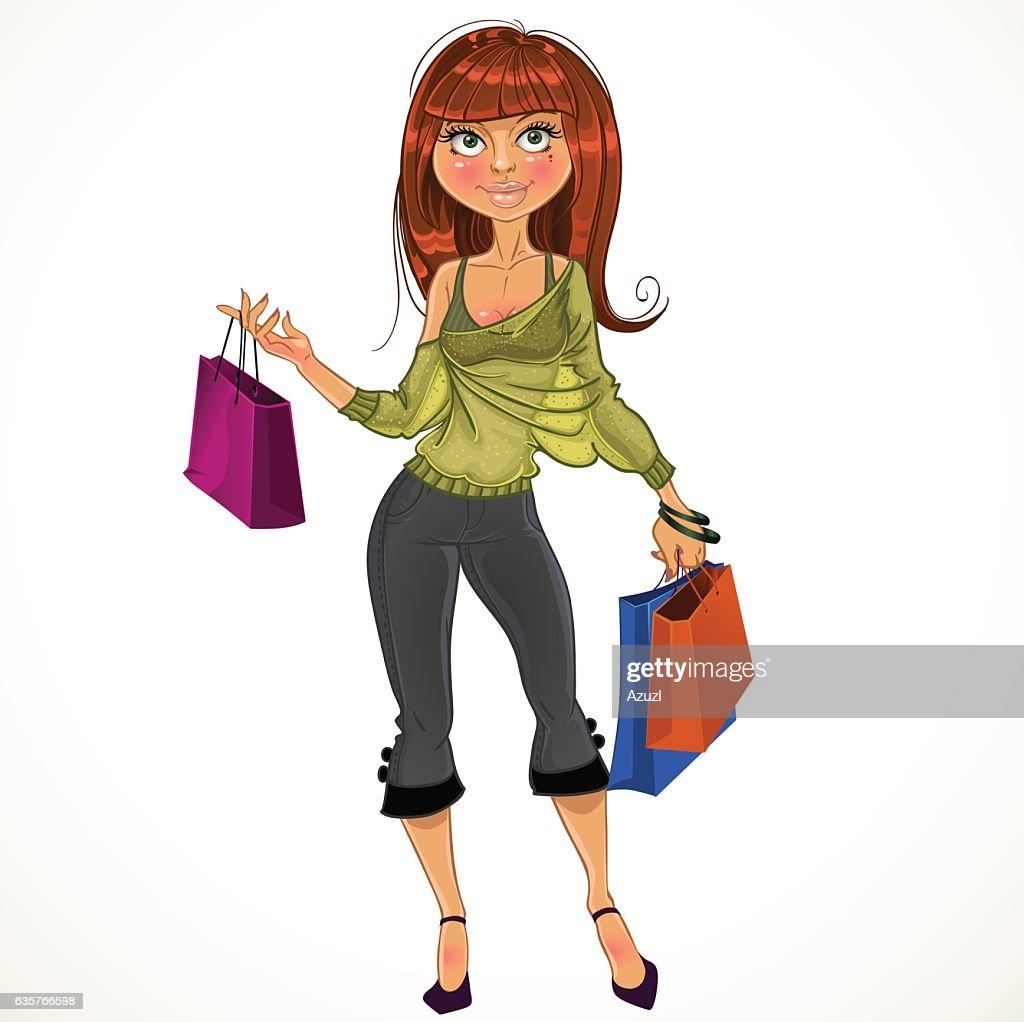 pretty shopping glamur girl