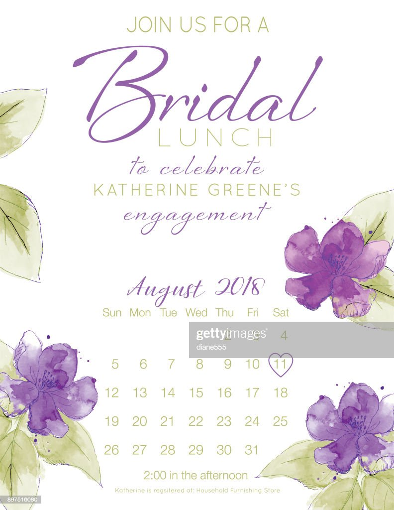Pretty Watercolor Flowers Bridal Shower Party Invitation Template ...