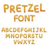 Pretzel alphabet letters
