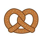 Pretzel bread icon Vector illustration