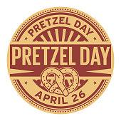 Pretzel Day stamp