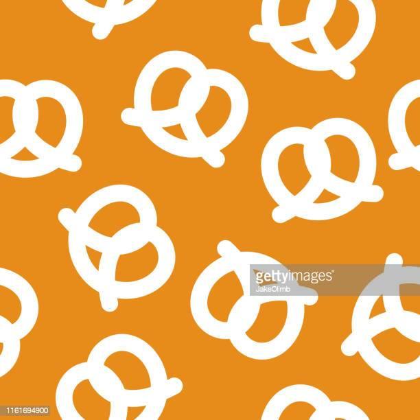 pretzel pattern silhouette - pretzel stock illustrations, clip art, cartoons, & icons