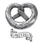 Pretzels. Vector sketch