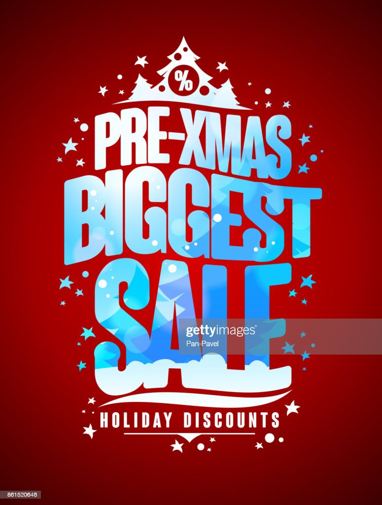 Pre-xmas biggest sale design concept, new year and christmas holidays