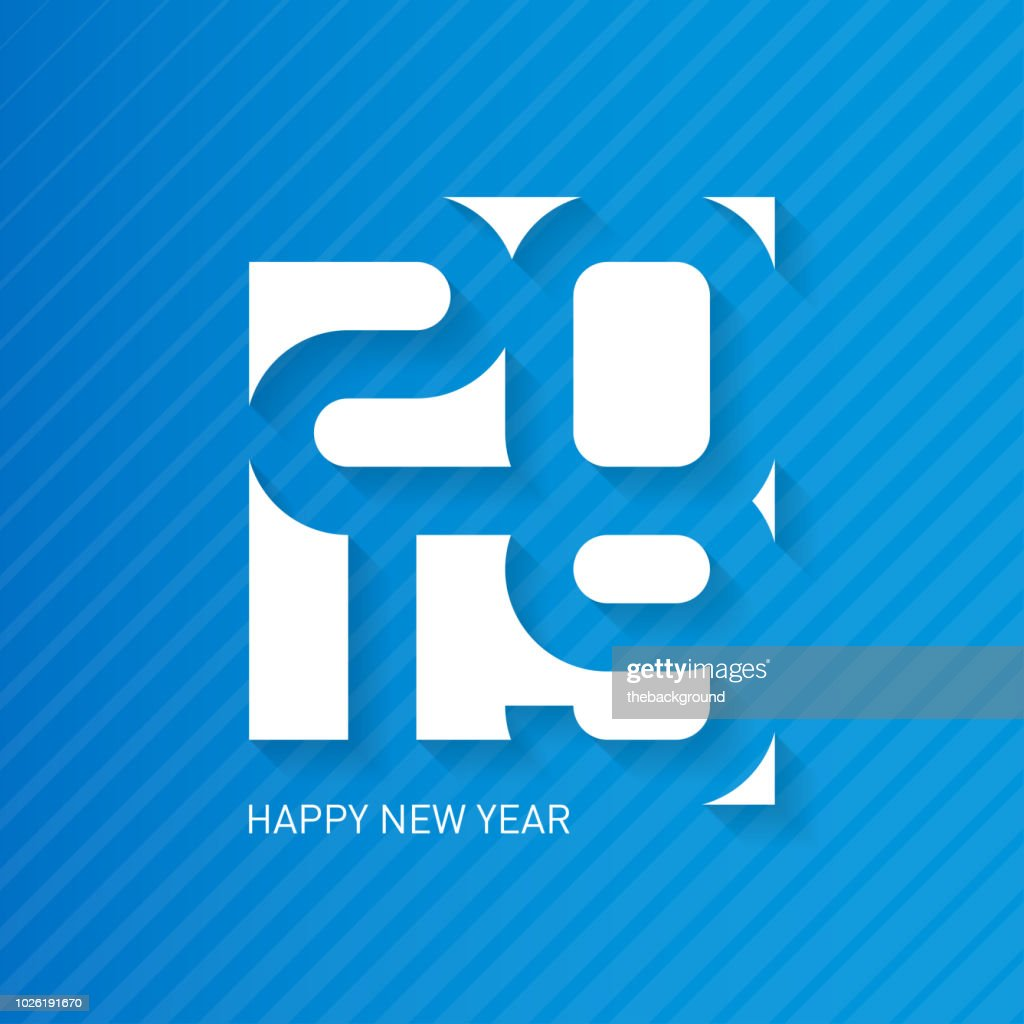 PrHappy New Year 2019. Vector greeting card with halftone gradient. Cover of business diary for 20 19. Vector brochure design template.int