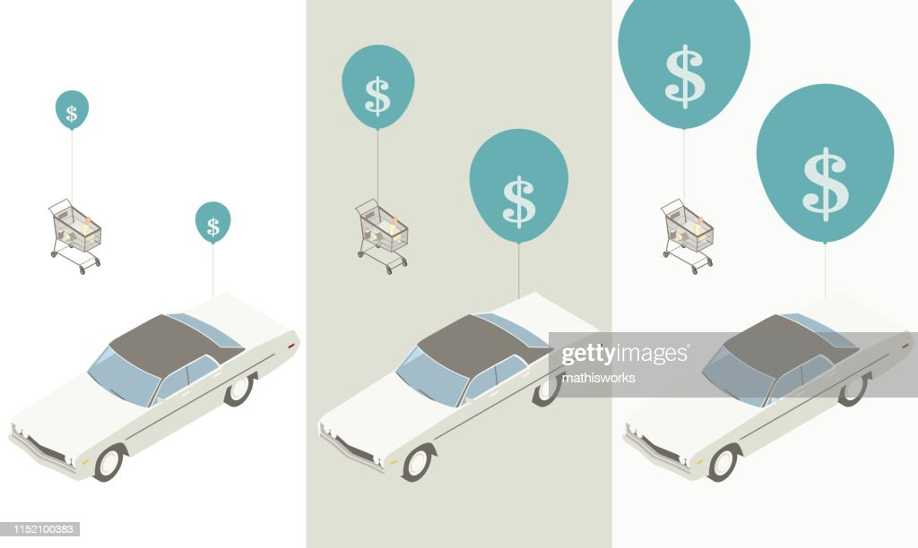 Price inflation illustration : stock illustration
