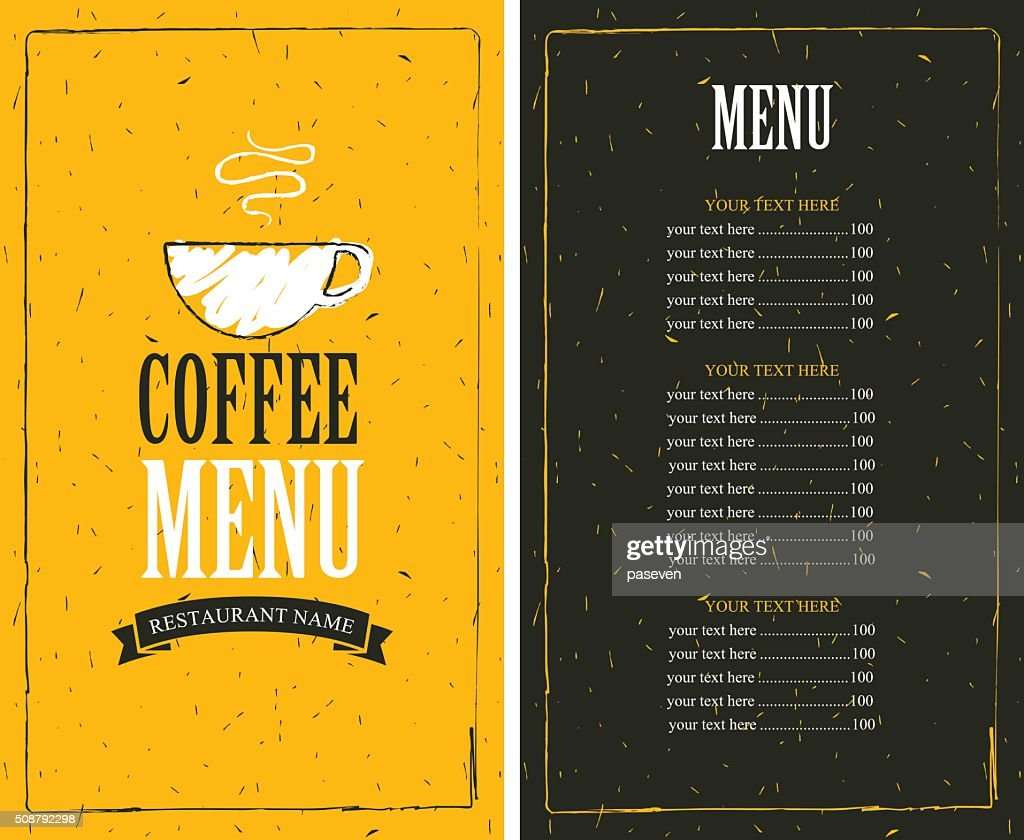 price list and a cup of coffee