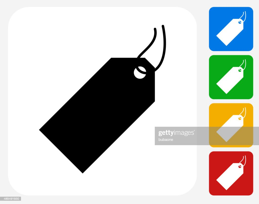 Price Tag Icon Flat Graphic Design stock illustration - Getty Images