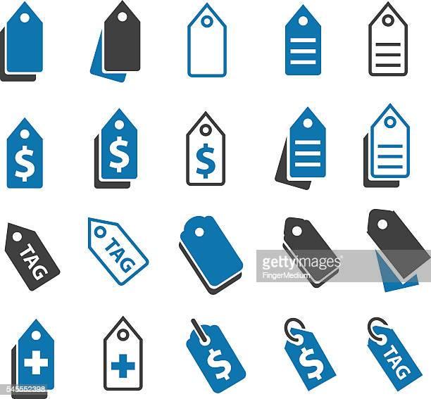 Price tag icon set