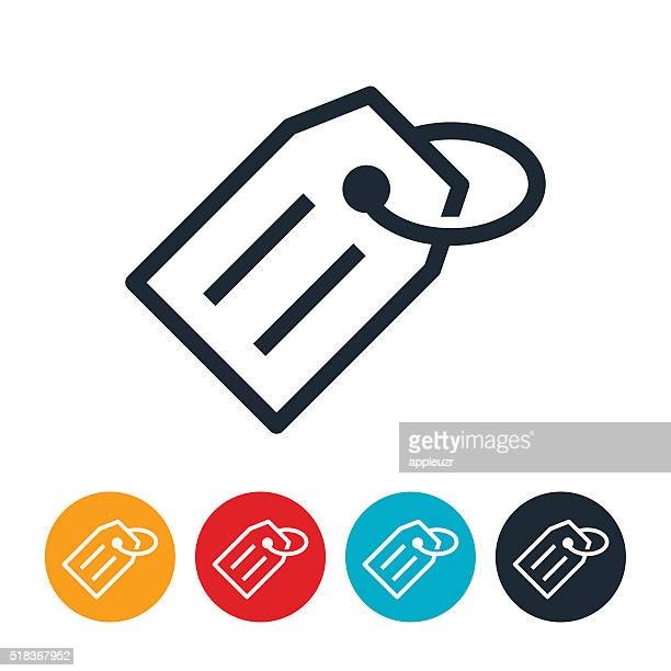 price tag icon - luggage tag stock illustrations, clip art, cartoons, & icons