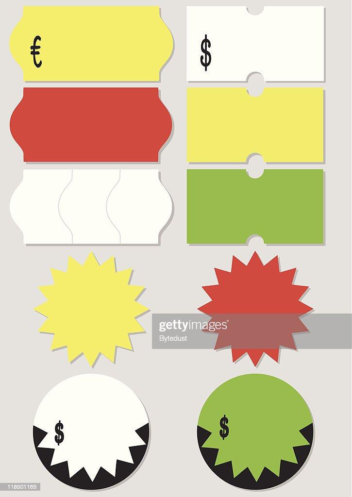 Price tag vector illustration set