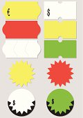 Price tag vector illustration set