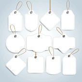 Price tags and gift cards set. Label paper, sale design.