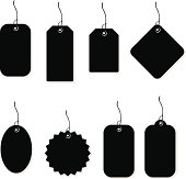 Price Tags and Labels Silhouettes