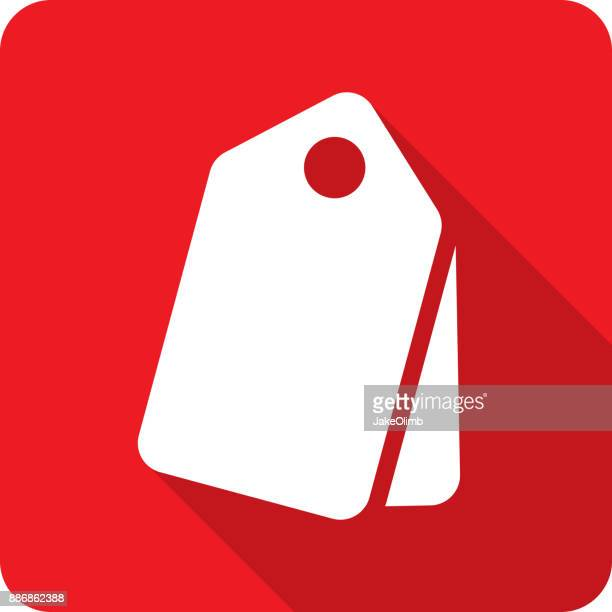 price tags icon silhouette - luggage tag stock illustrations, clip art, cartoons, & icons