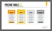 Pricing Table Presentation Slide