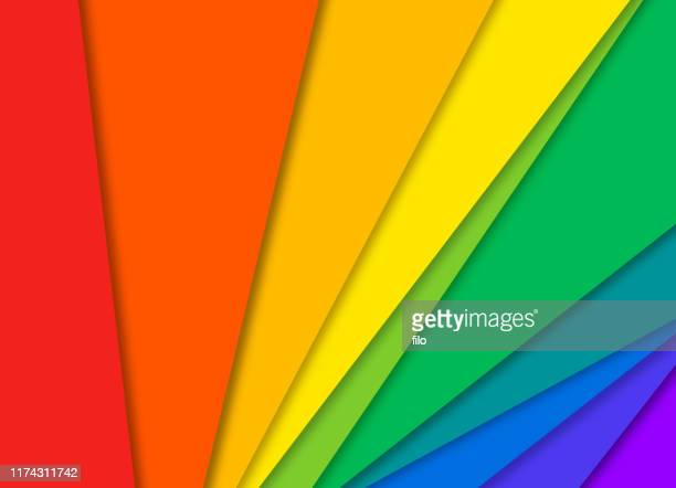 pride abstract rainbow colorful paper background - pride stock illustrations