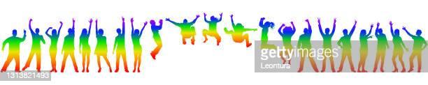 プライド月間ハッピーピープル - ゲイ・パレード点のイラスト素材/クリップアート素材/マンガ素材/アイコン素材