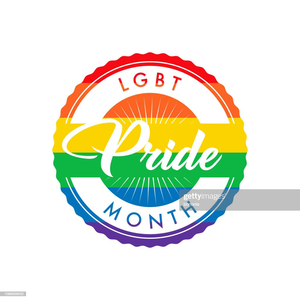 LGBT Pride Month Label : stock illustration
