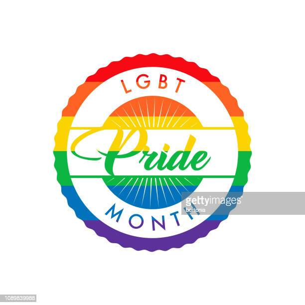 lgbt pride month label - bisexuality stock illustrations, clip art, cartoons, & icons