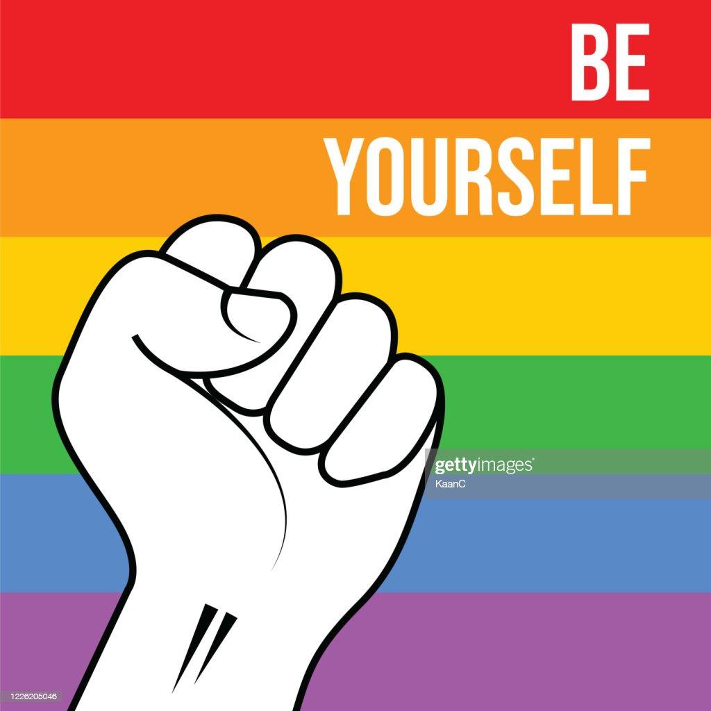 LGBTプライド月間。レインボースペクトルフラグストックイラスト : ストックイラストレーション