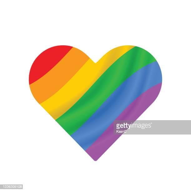 lgbt stolz monat. regenbogen-spektrum-flagge stock-illustration - regenbogen stock-grafiken, -clipart, -cartoons und -symbole