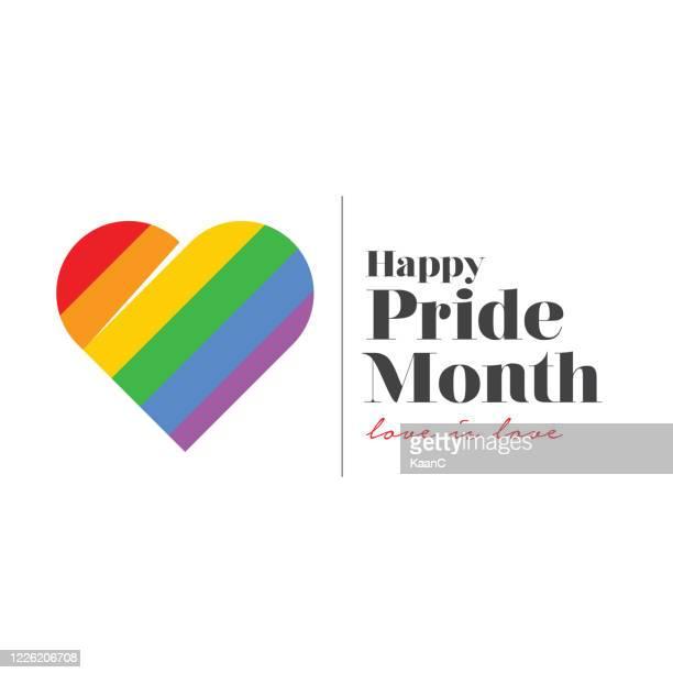 lgbt pride month. rainbow spectrum flag stock illustration - june stock illustrations