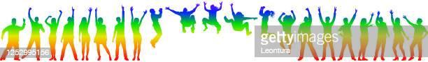 プライド月間 - ゲイ・パレード点のイラスト素材/クリップアート素材/マンガ素材/アイコン素材