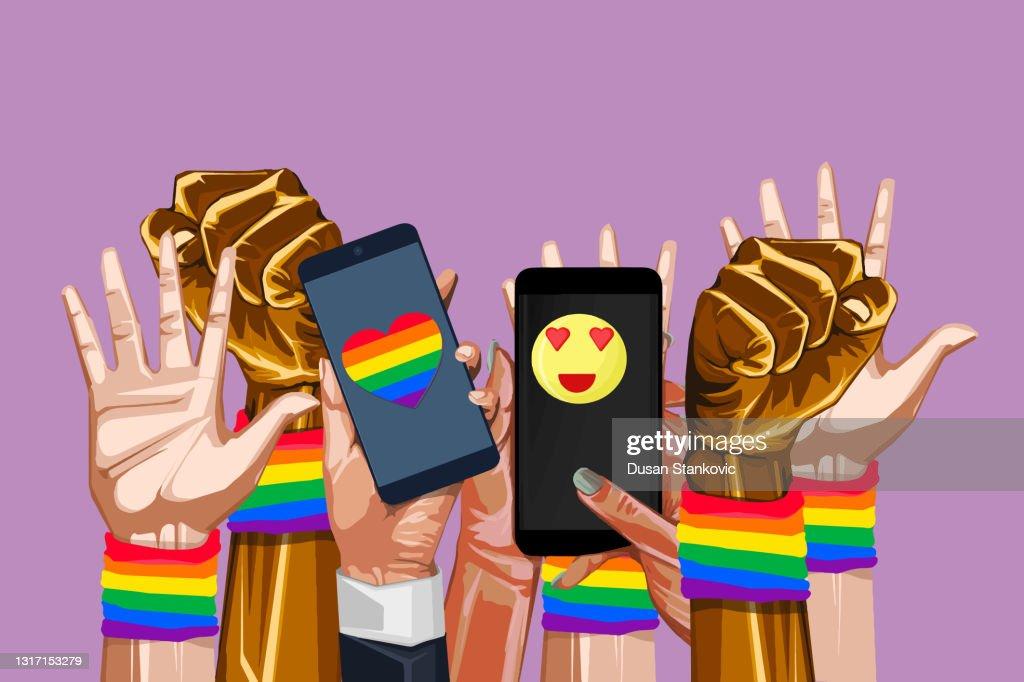 LGBTQIAプライド月間 : ストックイラストレーション