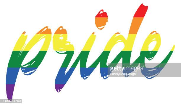 pride wording - marriage equality stock illustrations, clip art, cartoons, & icons