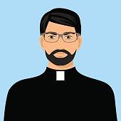 priest icon flat design