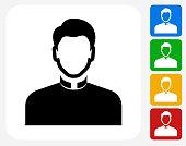 Priest Icon Flat Graphic Design