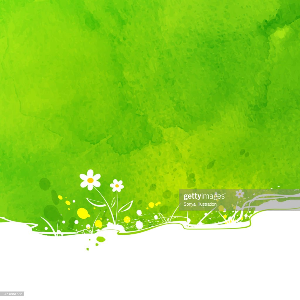 Primarily green background with a few flowers express summer