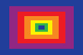 Primary colors are blue, red, yellow. Secondary colors are purple, orange, green. Vector, illustration.