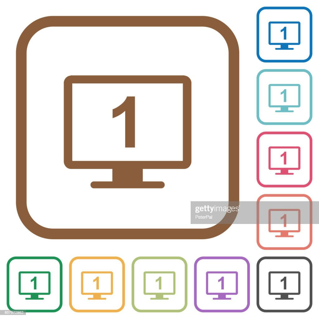 Primary display simple icons