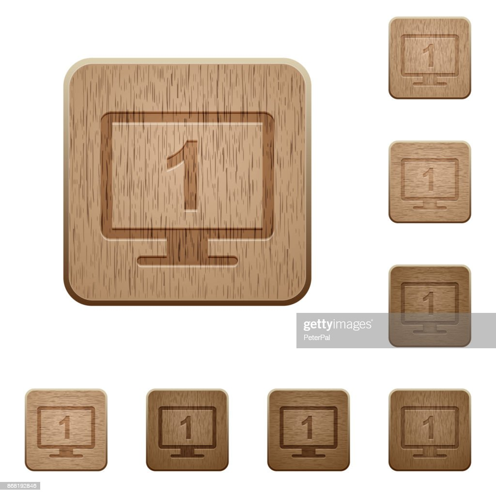 Primary display wooden buttons