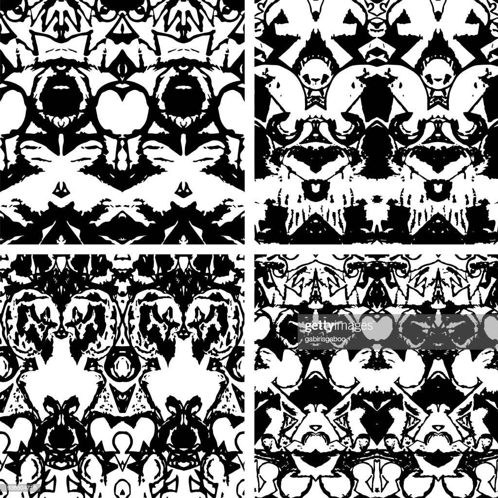 Primitive textile pattern, based on manually generated aquarell painting