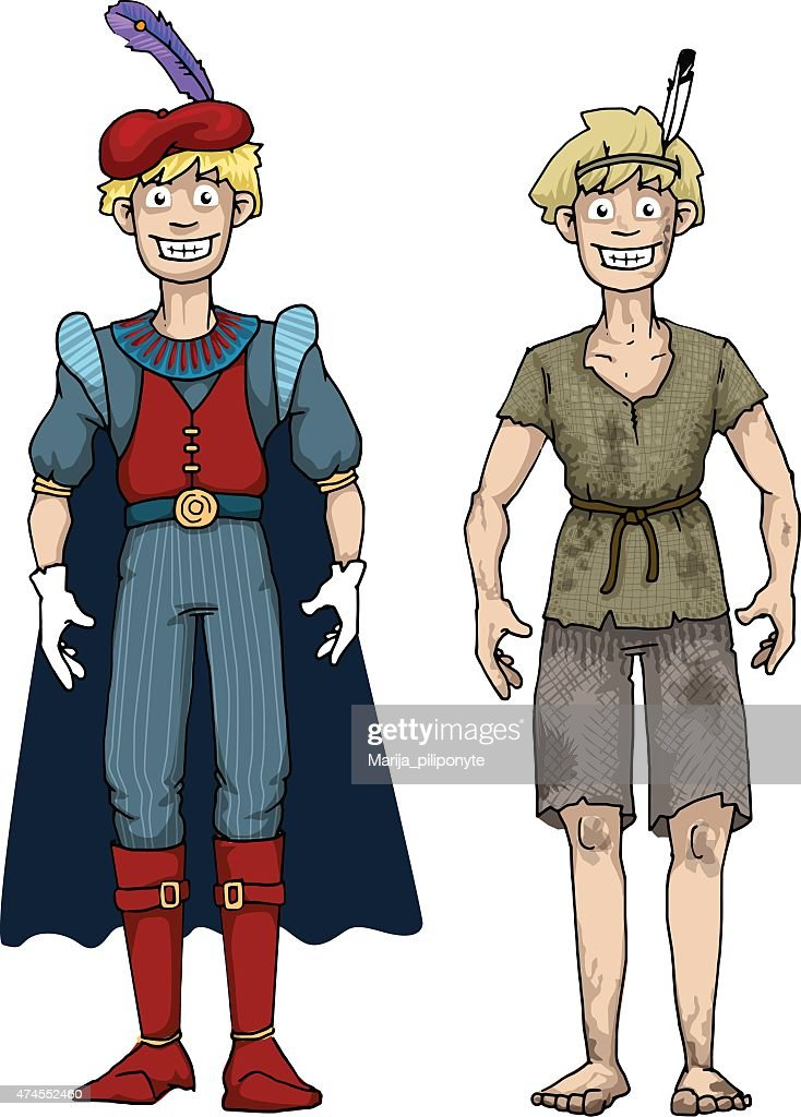 Prince and Beggar, boy characters