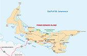 Prince Edward Island road map