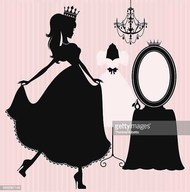 princess boudoir - princess stock illustrations, clip art, cartoons, & icons