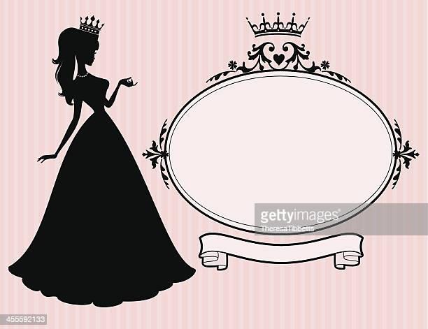 princess frame - princess stock illustrations, clip art, cartoons, & icons