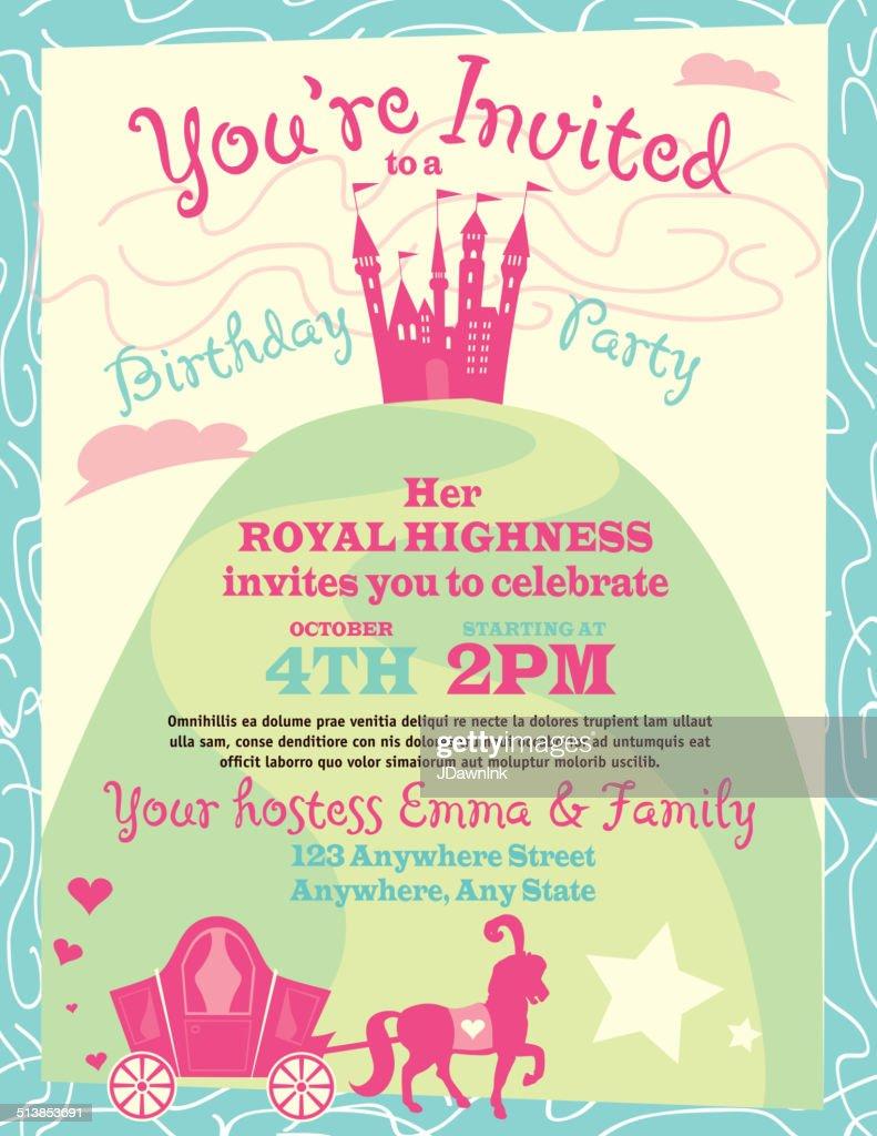 Princess party themed invitation design template vector art princess party themed invitation design template vector art stopboris Image collections