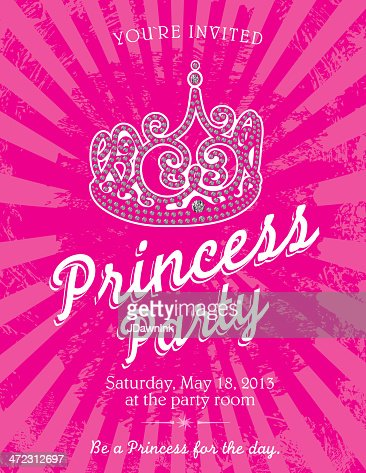 Princess party themed invitation design template vector art keywords stopboris Image collections