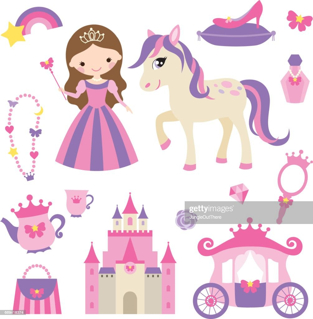 Princess, pony and accessories set