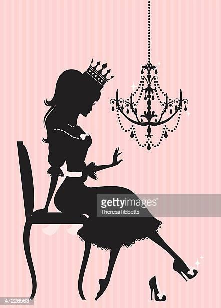 princess schuh - geschäftliche aktivitäten stock-grafiken, -clipart, -cartoons und -symbole