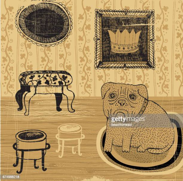 princess - dog bowl stock illustrations, clip art, cartoons, & icons